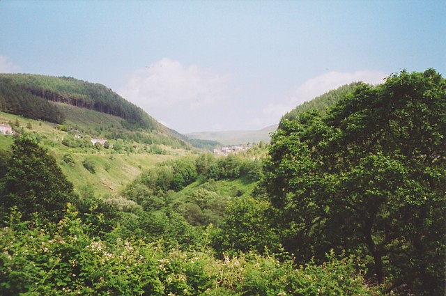 The valley of the Afan at Abercregan
