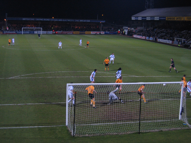Floodlit match, Abbey Stadium, Cambridge