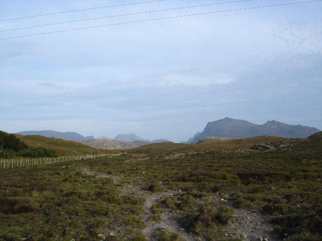 Path through Londubh common grazing