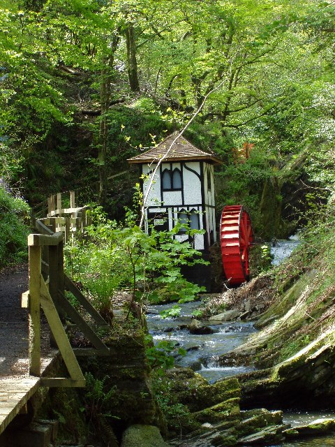 Water wheel in Groudle Glen