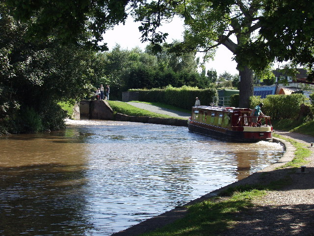 Grindley Brook Locks, bottom pond