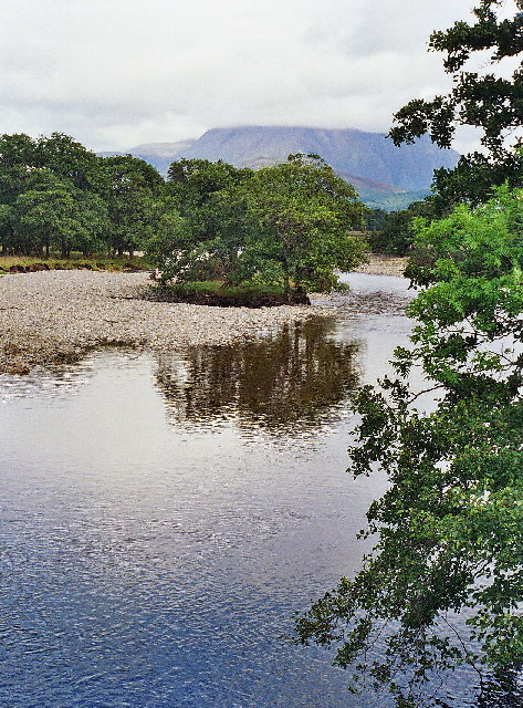 The River Scaddle from the bridge at Inverscaddle Bay, Ardgour