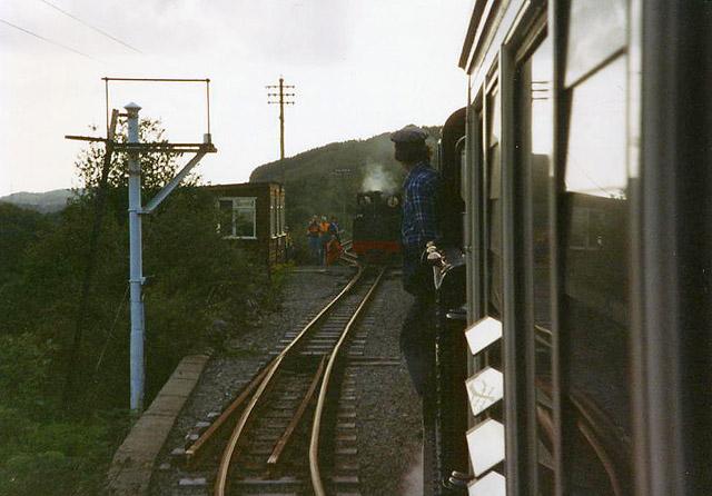 Ffestiniog Railway at Rhiw Goch