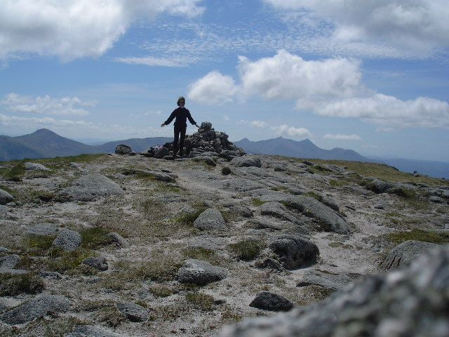 The summit of Beinn nan Aighenan