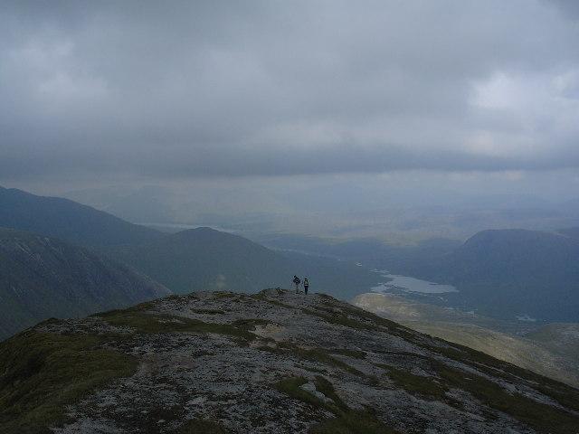 On the ridge up to Stob Coir an Albannaich