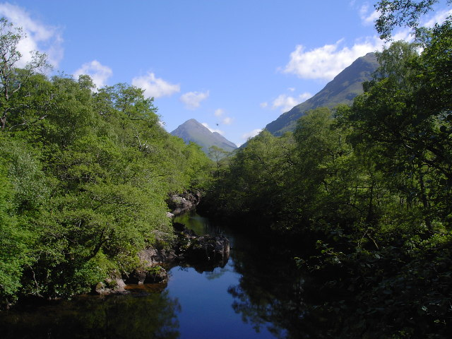 View from bridge over the River Etive at Coileitir