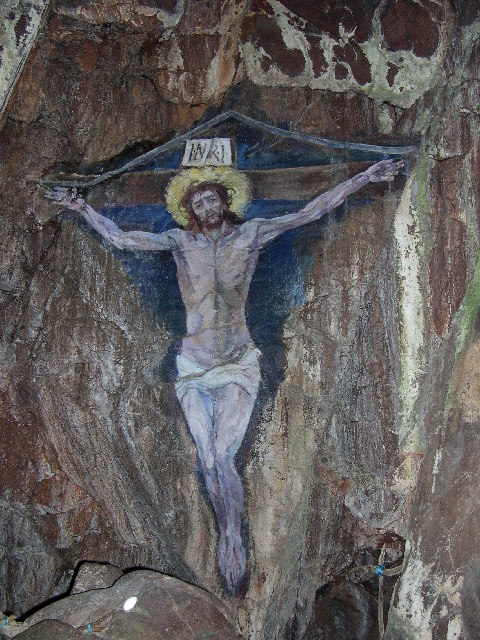 Christ on the Cross - Cave Painting - Davaar Island, Kintyre