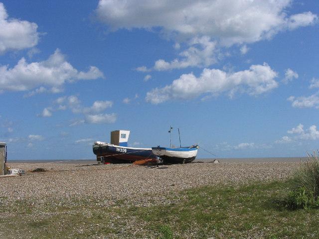 Fishing boats, Thorpeness Beach, Suffolk