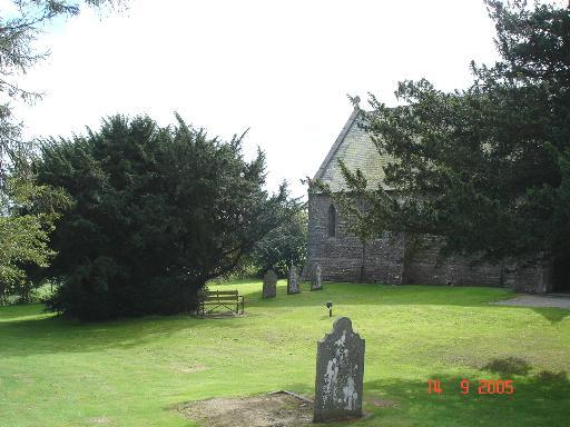 Churchyard at Bylchau
