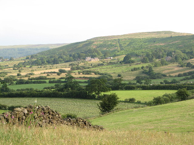 View up Danby Dale from The Moorlands Hotel, Castleton