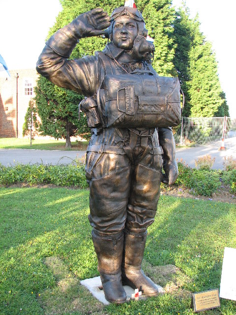 The Statue to Pilot Officer Andrew Mynarski at Teesside Airport