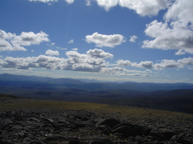 Looking west from the summit cairn