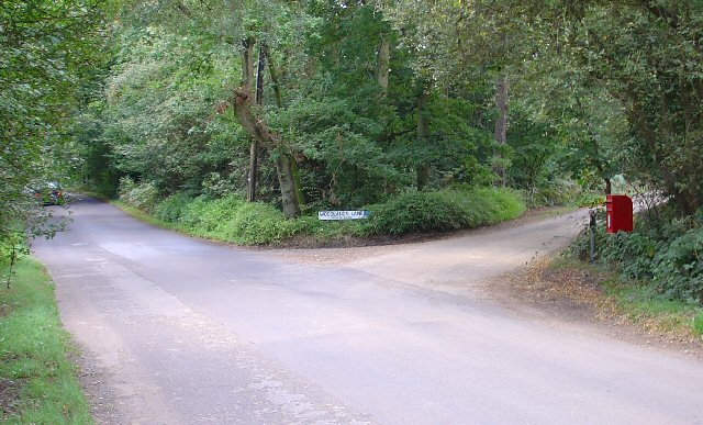 Junction of Grouse Road and Woodland Lane, Near Colgate, West Sussex