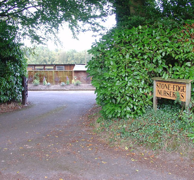 Entrance to Stone Edge Nurseries, Woodland Lane, near Colgate, West Sussex
