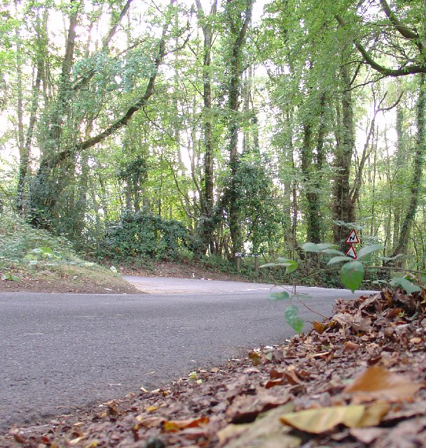 Junction of Hammerpond Road and Church Lane, Bucks Head, West Sussex.