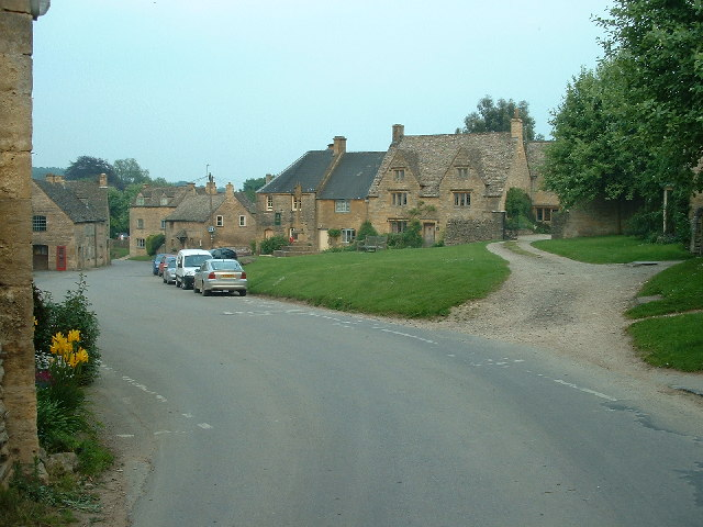 Guiting Power: looking South East down the village