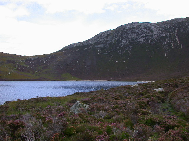 Coire Fhionn Lochan from path adjacent to its outflow