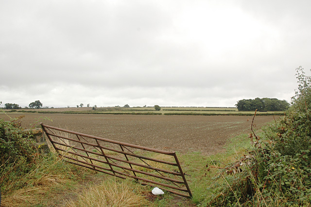 Field and Gate near Peopleton