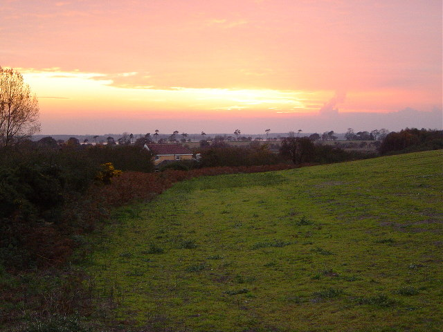 Sunset over Hazelwood Marshes, Aldeburgh, Suffolk
