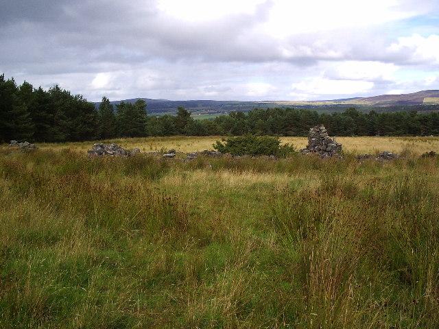 Old croft ruin at upper Ardchronie