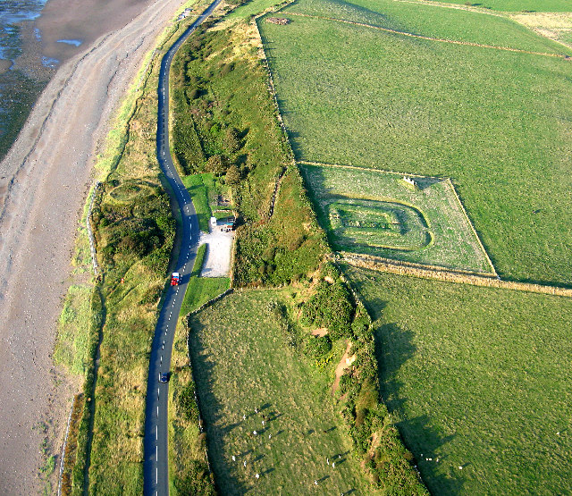 Roman Milefortlet and Saltpans of Crosscanonby, Solway Coast, Cumbria