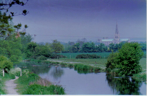 Hunston,near Chichester, from where Turner painted his picture of the Cathedral