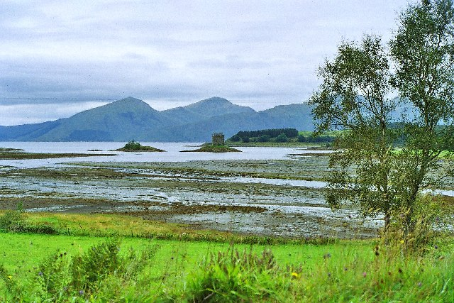 Castle Stalker viewed across Loch Laich
