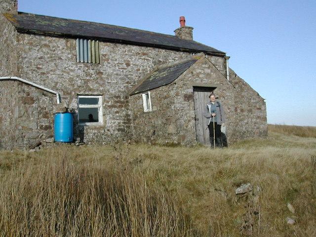 Abandoned moorland cottage