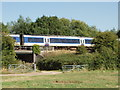 SP7307 : Railway at Haddenham by David Hawgood