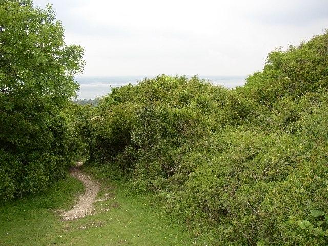 Path to Tennyson's Monument, Totland