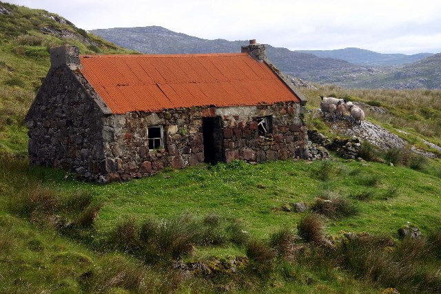 Old ruin at Molingeanais  on the Isle of Harris