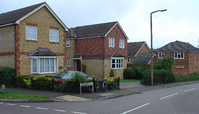 1990/2000s Housing Estate - Chapman Road, Maidenbower Neighbourhood of Crawley, West Sussex