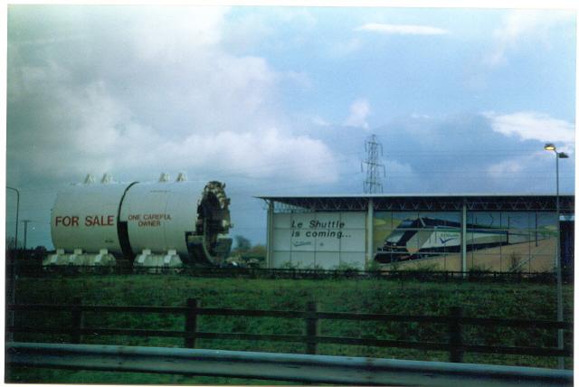 Channel Tunnel Boring Machine, Cheriton