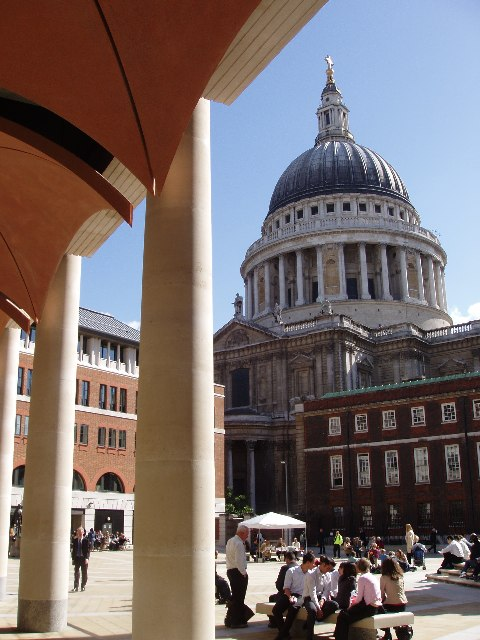St. Paul's seen from Paternoster Square