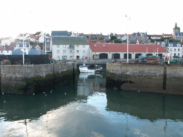 Pittenweem fish sheds and boat