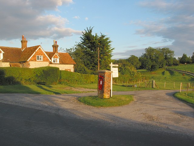 Entrance to Hazeley Estate seen from Hazeley Road