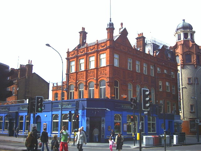 The Bush Theatre pub on the corner of Goldhawk Road and Shepherd's Bush Green