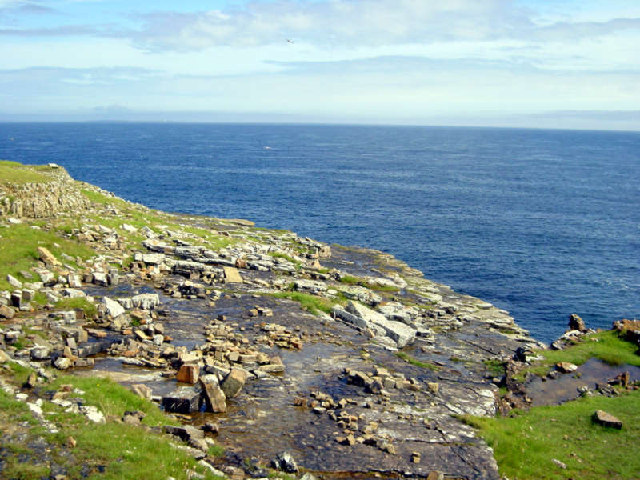 Rocky coastline at Deerness