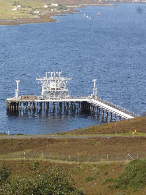 NATO pol depot Loch Ewe refuelling jetty