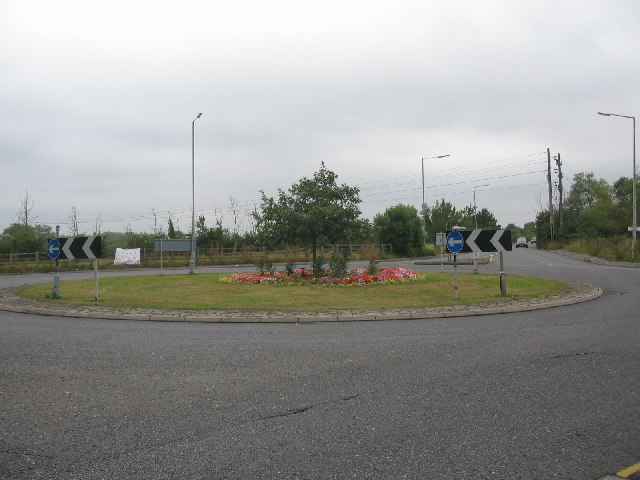 Floral display on the Mead roundabout