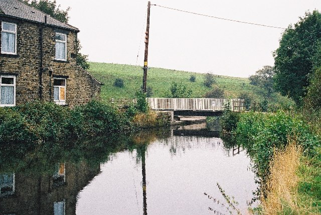 Little Clegg Swing Bridge, Rochdale Canal, Littleborough, Lancashire
