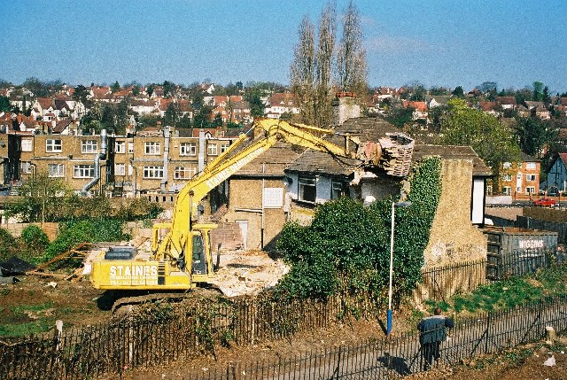 Demolition of 8, Windermere Road, Coulsdon, Surrey