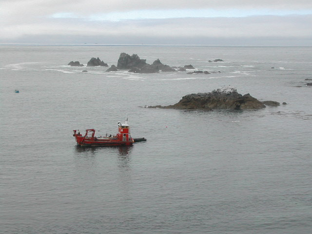 Polpeor Cove with Shag Rock and Man O War