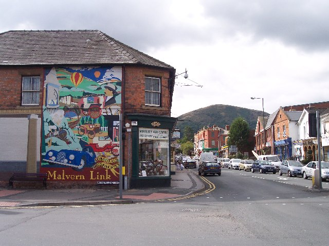 Shops on Worcester Road , Malvern Link