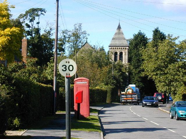Looking west along Bilbrough main street
