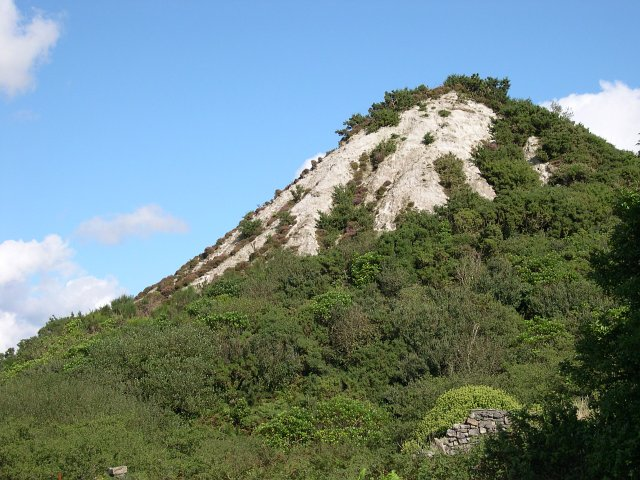 Old conical china clay spoil heap