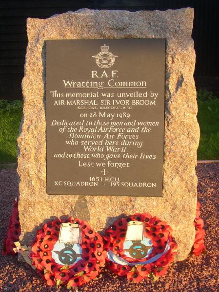 RAF Wratting Common Memorial