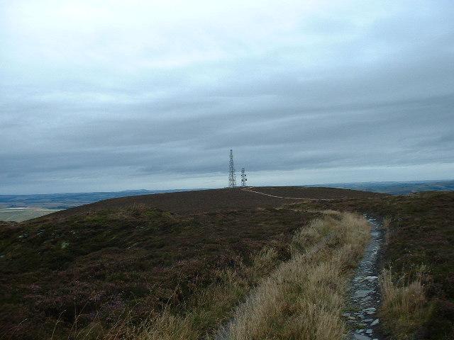Communications Masts on Hill of Foudland