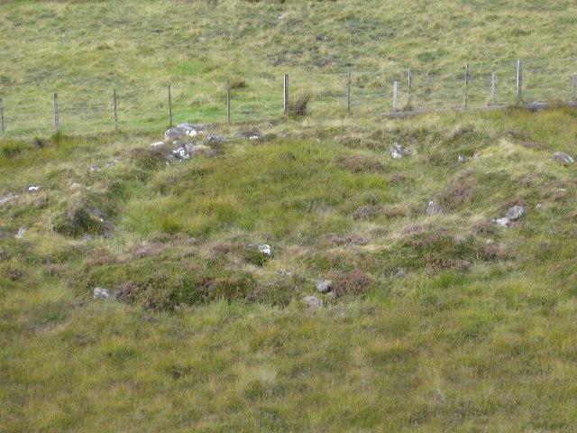 Hut circle on Leathad Mor hillside