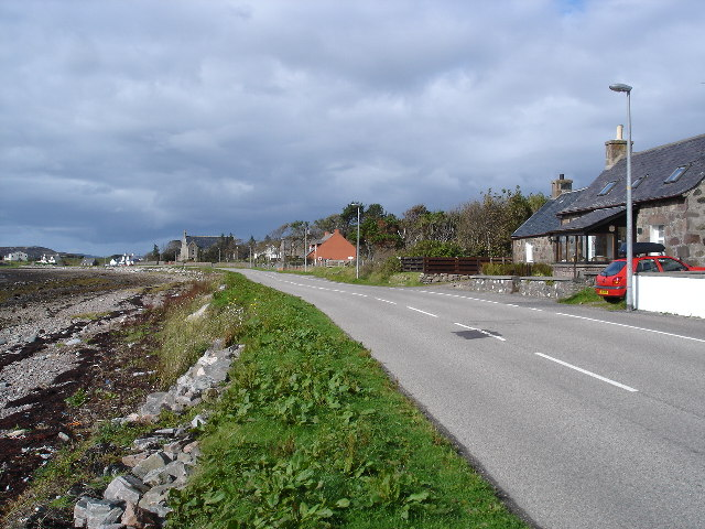 View along the front in Aultbea